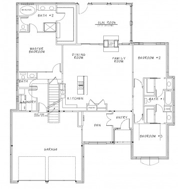 Alli II FLL DD Floor Plan with Sunroom Artwork